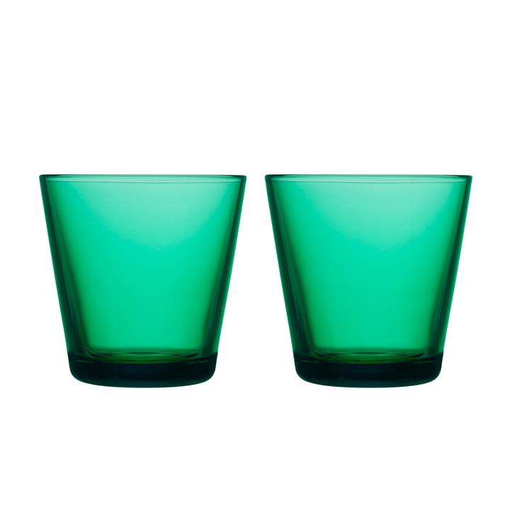 Kartio Trinkglas 21 cl (2er-Set) von Iittala in smaragdgrün