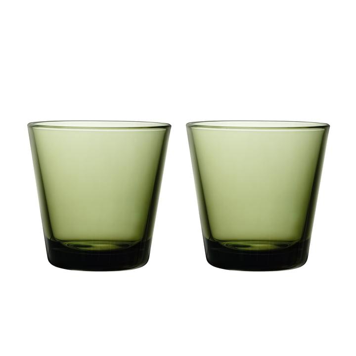 Kartio Trinkglas 21 cl (2er-Set) von Iittala in moosgrün