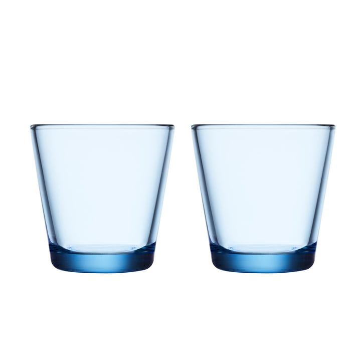 Kartio Trinkglas 21 cl (2er-Set) von Iittala in aqua