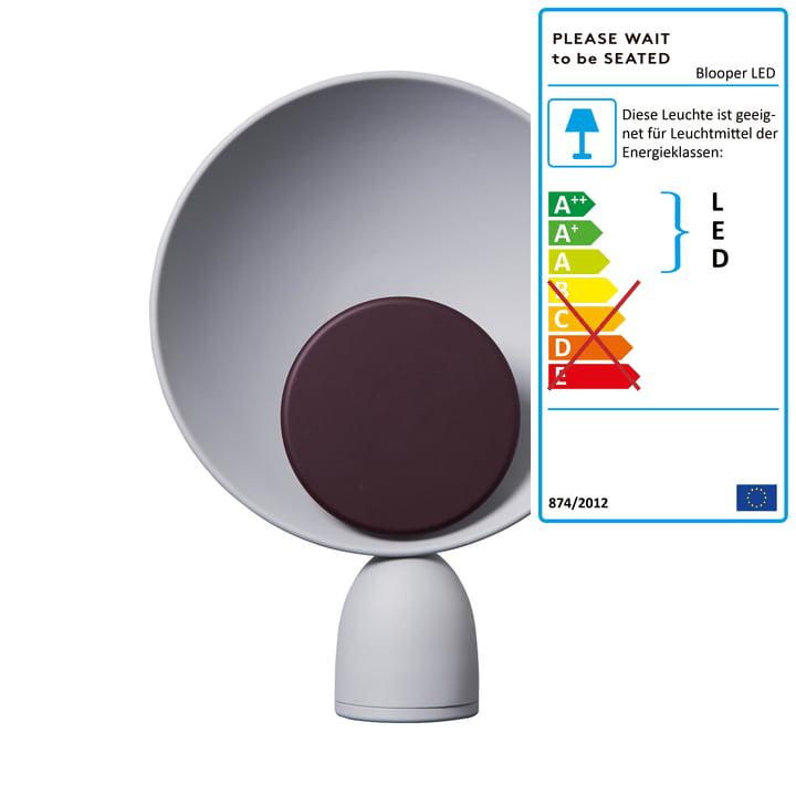 Blooper LED Tischleuchte in ash grey / fig purple von Please wait to be seated