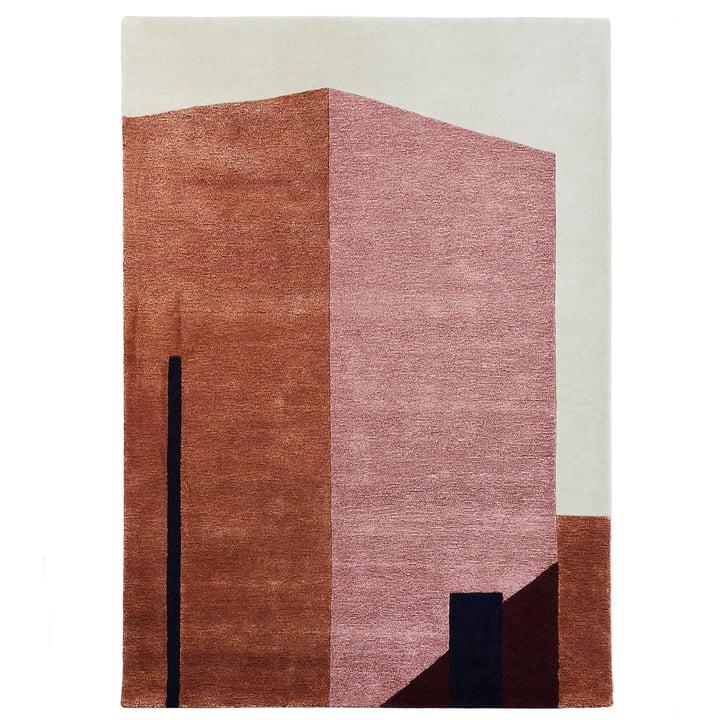 Arqui Teppich 1, 200 x 300 cm, indian red / pfirsich von Please wait to be seated