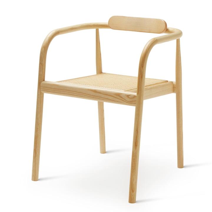 Ahm Chair in Esche matt lackiert / Rohrgeflecht von Please wait to be seated