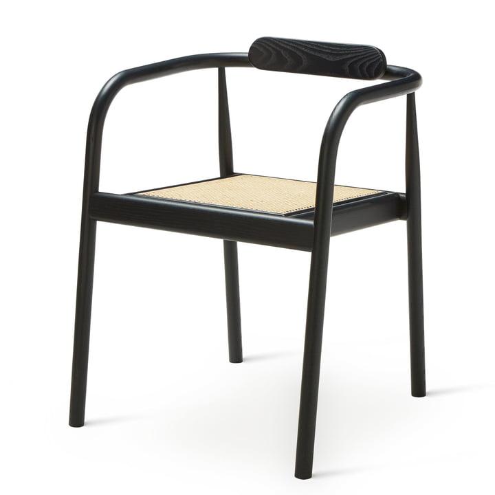 Ahm Chair in navy blue / Rohrgeflecht von Please wait to be seated
