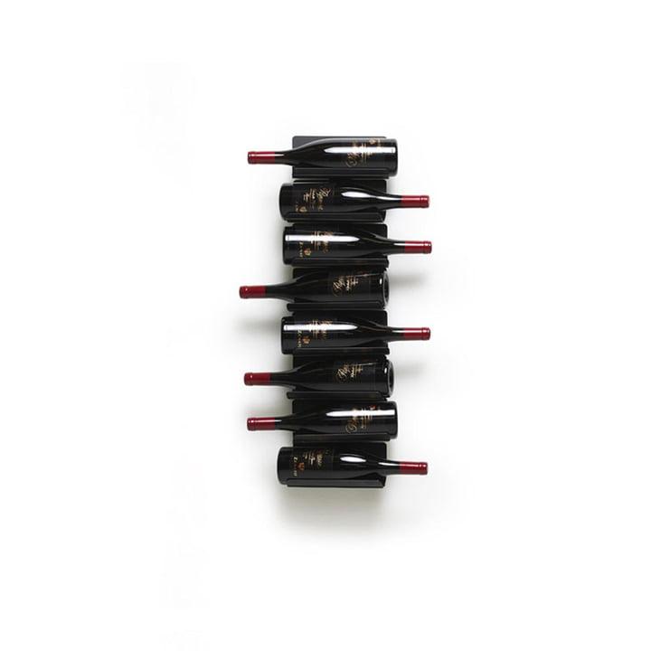 Ptolomeo Vino Wandregal, H 75 cm in schwarz von Opinion Ciatti
