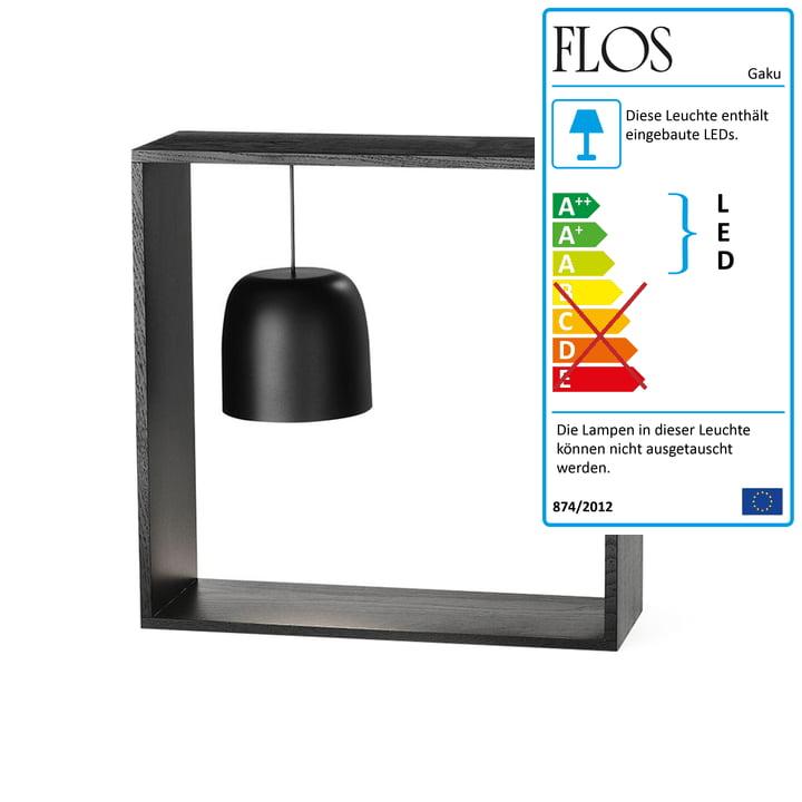 Gaku Wire Akku-Tischleuchte (LED) von Flos in schwarz