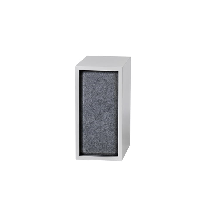 Stacked Acoustic Panel, small in grey melange von Muuto