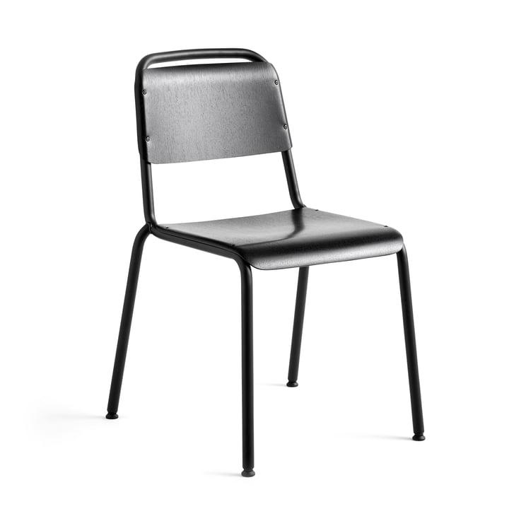 Halftime Stuhl, schwarz pulverbeschichtet / Eiche schwarz von Hay