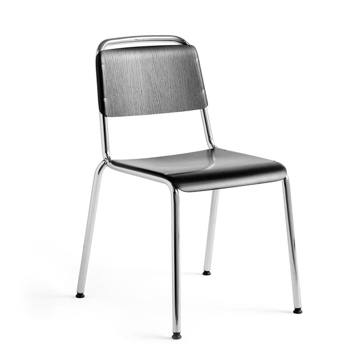 Halftime Stuhl, Chrom / Eiche schwarz gebeizt von Hay