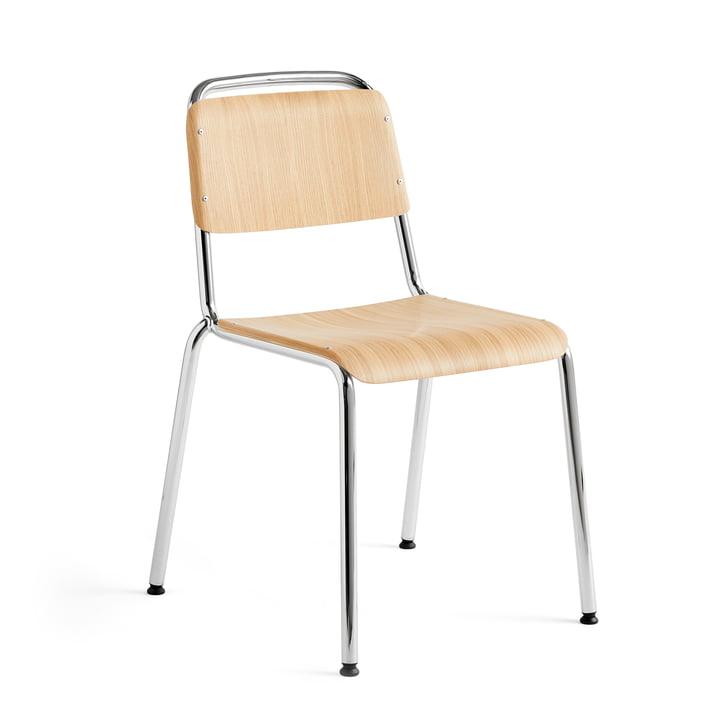 Halftime Stuhl, Chrom / Eiche matt lackiert von Hay