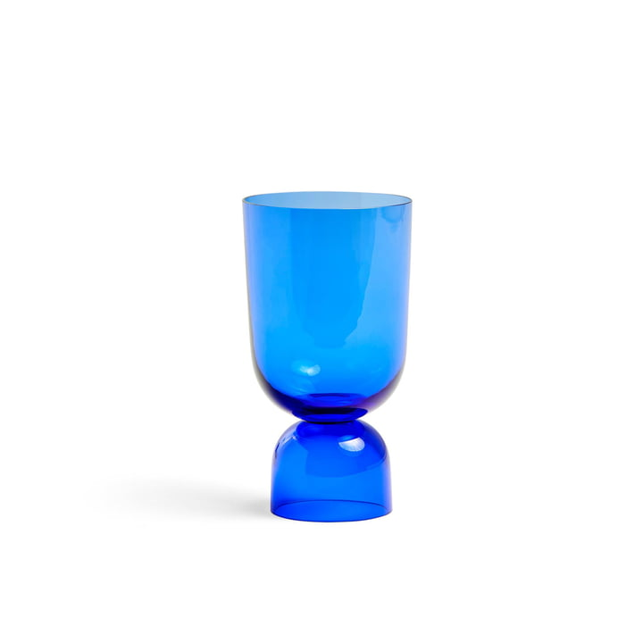 Bottoms Up Vase S, Ø 11,5 x H 21,5 cm in electric blue von Hay