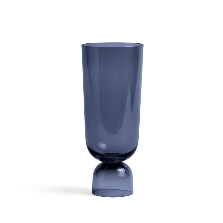 Bottoms Up Vase L, Ø 12 x H 29,5 cm in navy blue von Hay