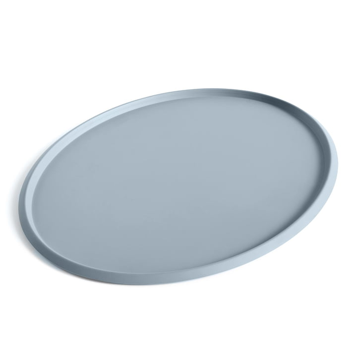 Ellipse Tray XL in dusty blue von Hay