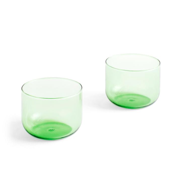 Tint Trinkglas 200 ml in grün (2er-Set) von Hay