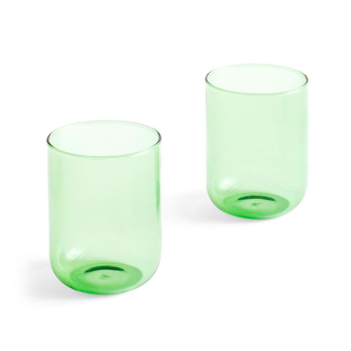 Tint Trinkglas 300 ml in grün (2er-Set) von Hay