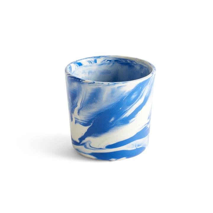 Marbled Cup, Ø 8 x H 7,5 cm, blau von Hay