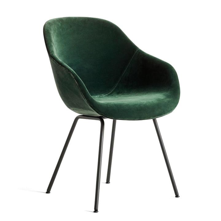 About A Chair AAC 127, Stahl pulverbeschichtet schwarz / Lola dunkelgrün von Hay
