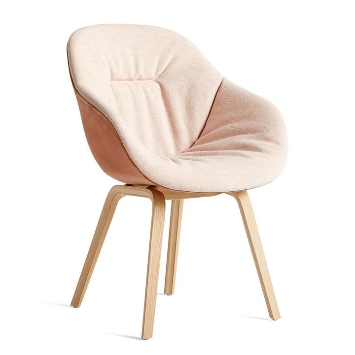 About A Chair AAC 123 Soft Duo, Eiche matt lackiert / Innenpolster Mode 026 / Rückseite Lola Rose von Hay