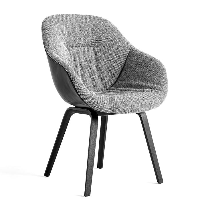 About A Chair AAC 123 Soft Duo, Eiche schwarz gebeizt / Innenpolster Hallingdal 166 / Rückseite Silk SIL0842 von Hay