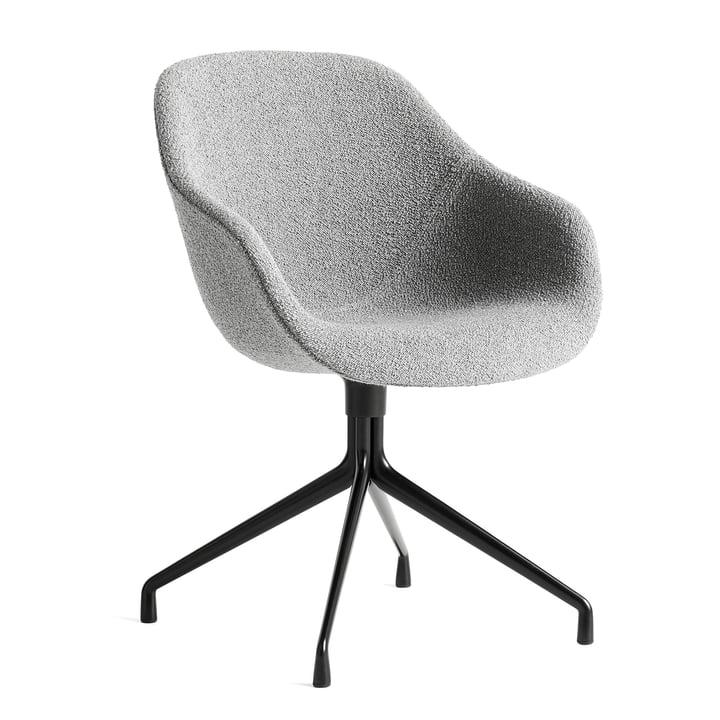 About A Chair AAC 121, Aluminium pulverbeschichtet schwarz / Flamiber grey C8 von Hay