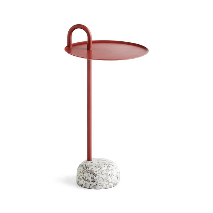 Bowler Beistelltisch, Ø 36 cm / H 70,5 cm in tile red von Hay