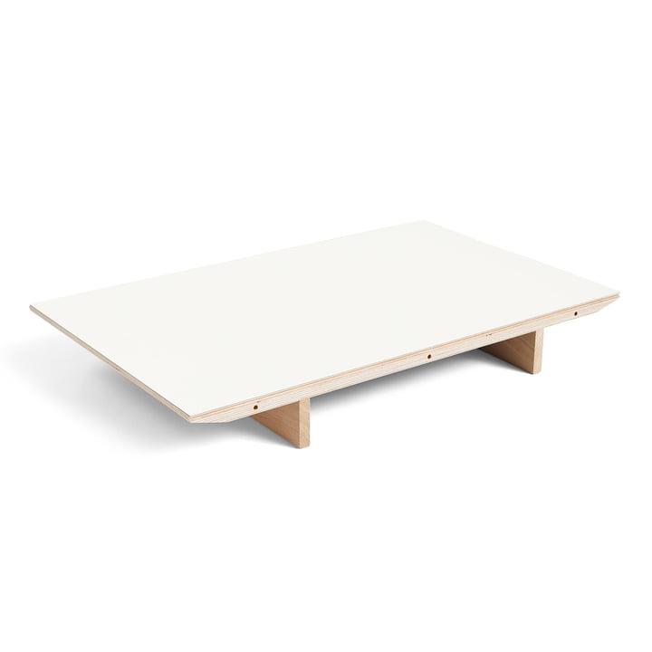 Einlegeplatte für CPH30 ausziehbarer Esstisch, 50 x 80 cm, Laminat weiß von Hay