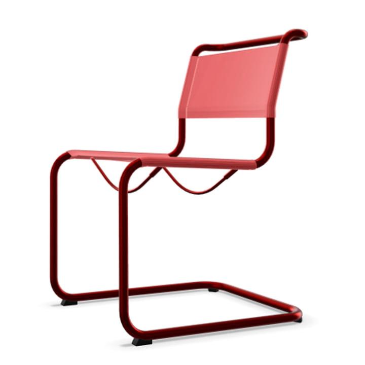 S 33 N All Seasons Stuhl von Thonet mit Gestell tomatenrot (TS 3013) / Gewebe kirsche