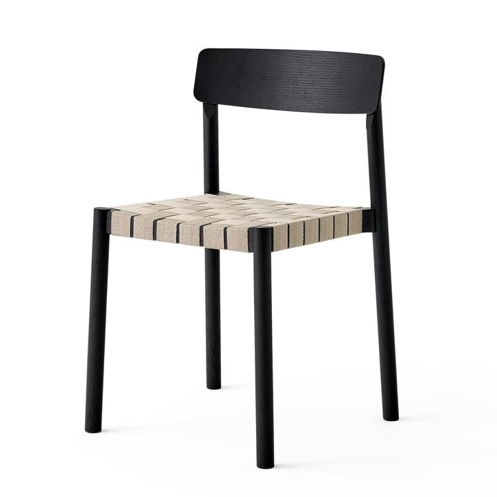 Betty TK1 Stuhl in schwarz / natur von &tradition
