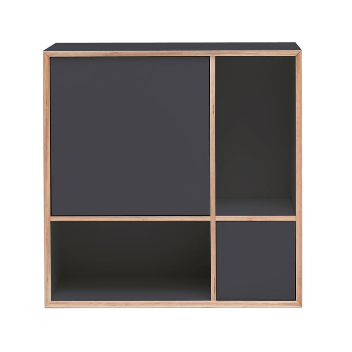 Vertiko Ply Sideboard Two von Müller Möbelwerkstätten in CPL anthrazit (RAL 4500)