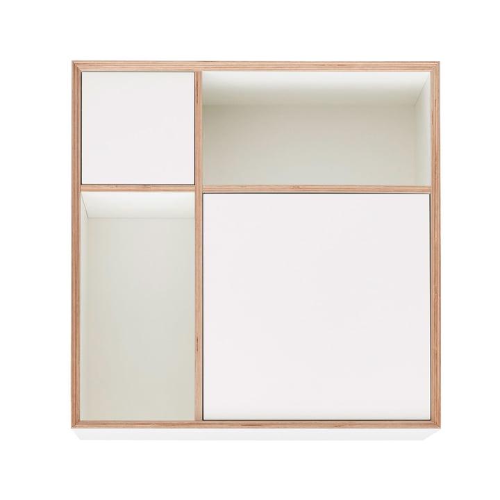 Vertiko Ply Sideboard Three von Müller Möbelwerkstätten in CPL reinweiß (RAL 9010)