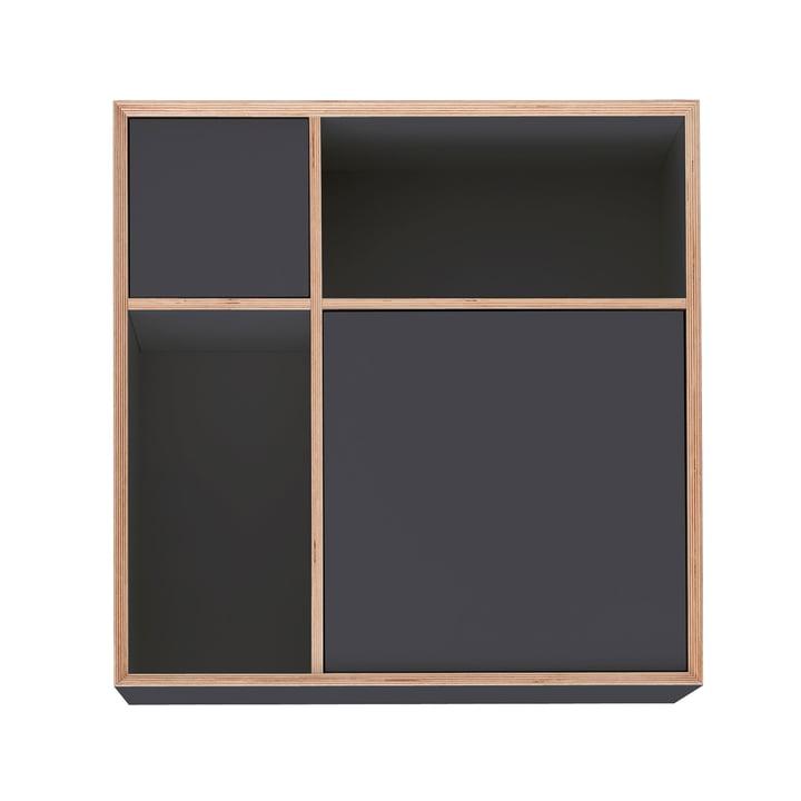 Vertiko Ply Sideboard Three von Müller Möbelwerkstätten in CPL anthrazit (RAL 4500)