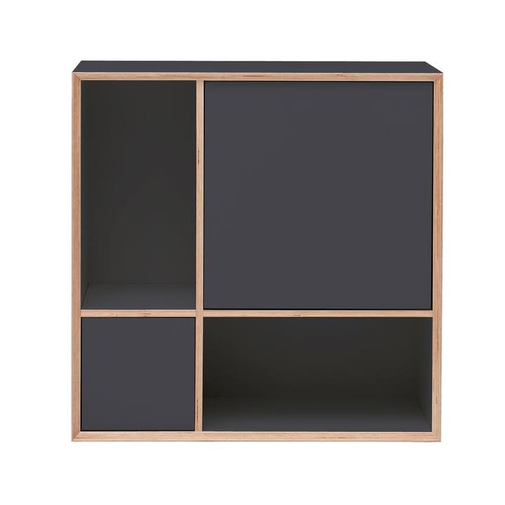 Vertiko Ply Sideboard Four von Müller Möbelwerkstätten in CPL anthrazit (RAL 4500)