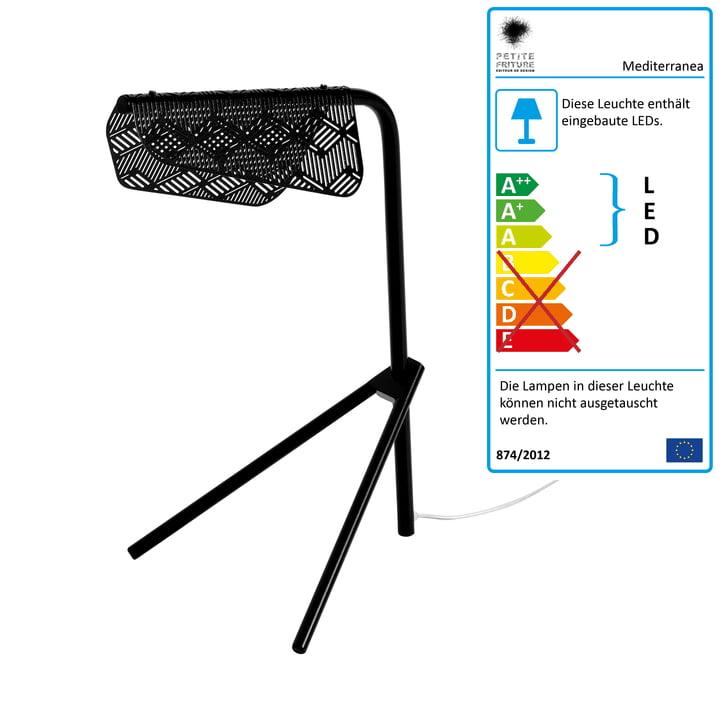 Mediterranea LED-Tischleuchte von Petite Friturein schwarz