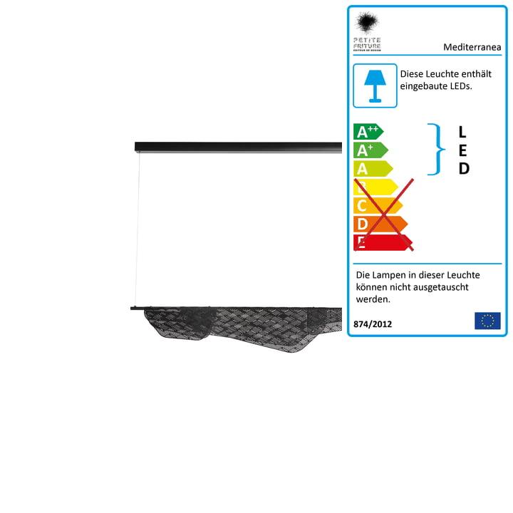 Mediterranea LED-Pendelleuchte small von Petite Friturein schwarz