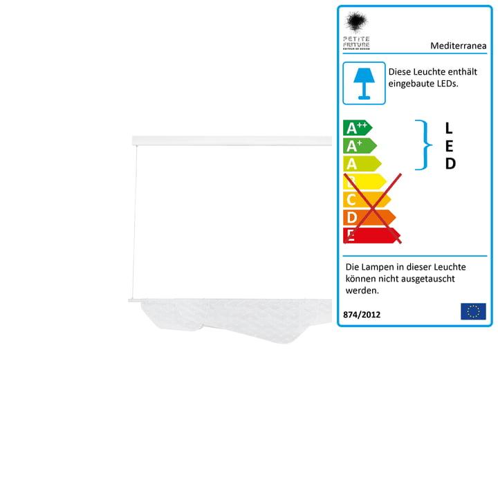 Mediterranea LED-Pendelleuchte small von Petite Friturein weiß