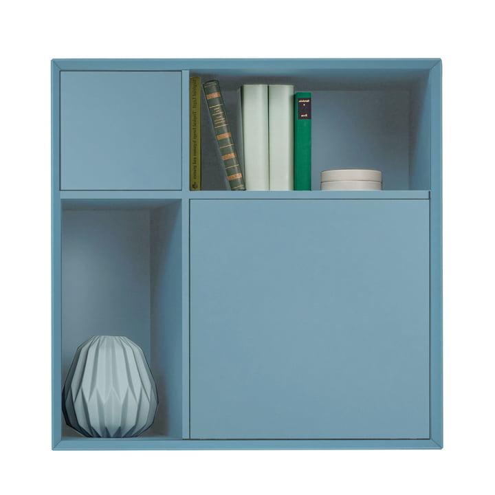 Vertiko Lack Sideboard Three von Müller Möbelwerkstätten aus MDF silbertannenblau (RAL 2306015)