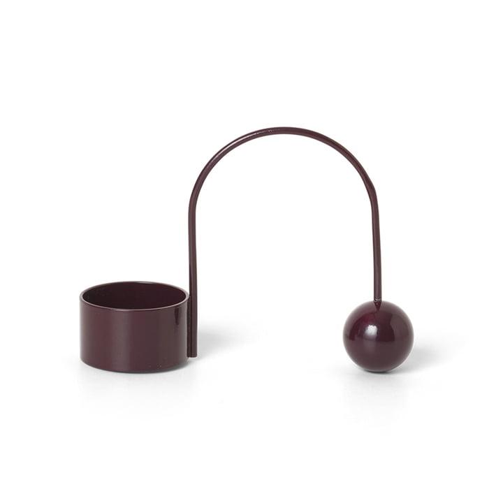 Teelichthalter Balance von ferm Living in dark aubergine
