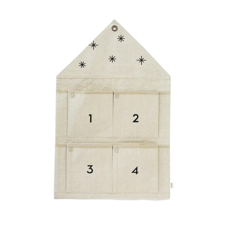 House Adventskalender 4 Fächer von ferm Living in sand