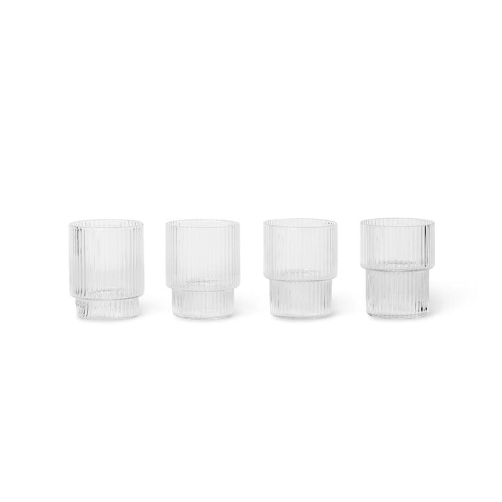 Ripple Trinkglas small, klar (4er-Set) von ferm Living