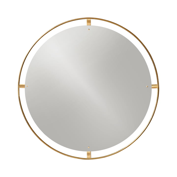Nimbus Spiegel Ø 110 cm, Messing poliert von Menu