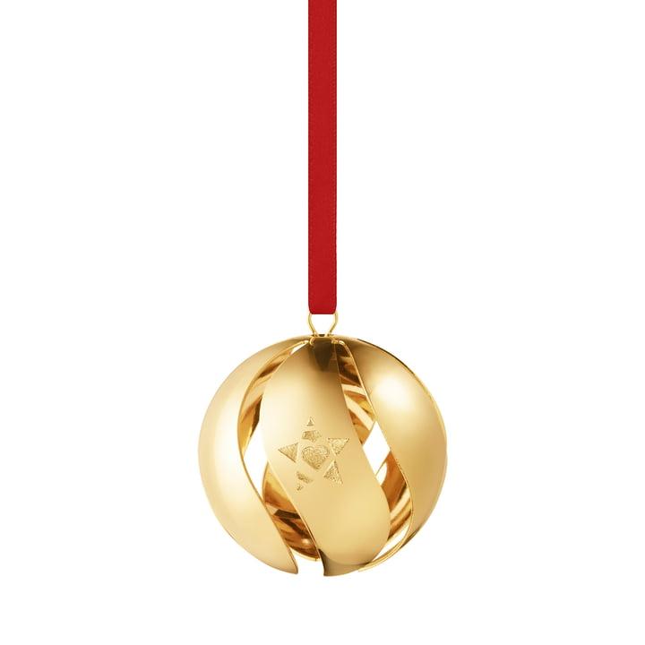 Weihnachtskugel 2019, gold von Georg Jensen