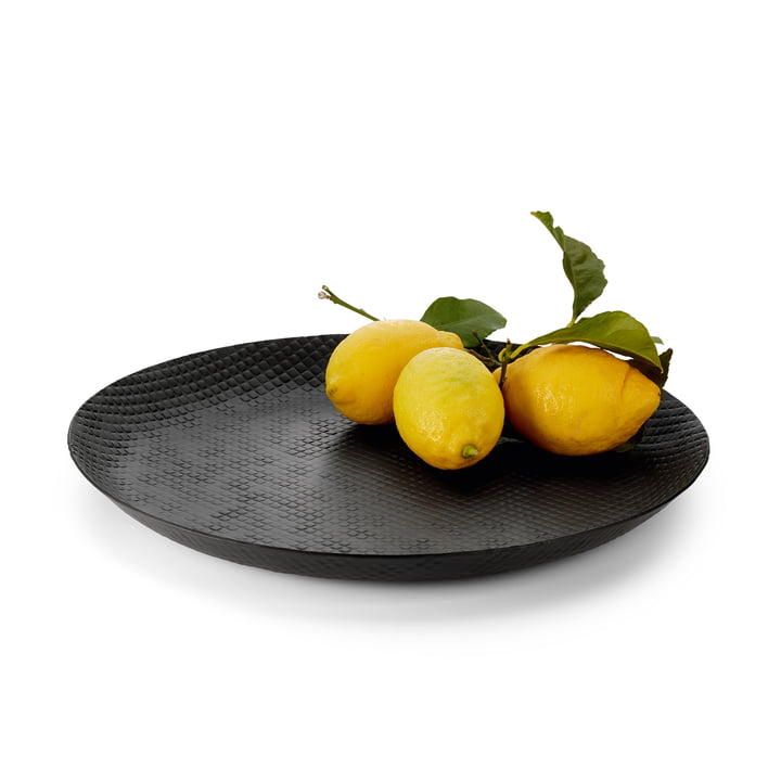 Outback Tablett Ø 37 cm, schwarz von Philippi mit Obst
