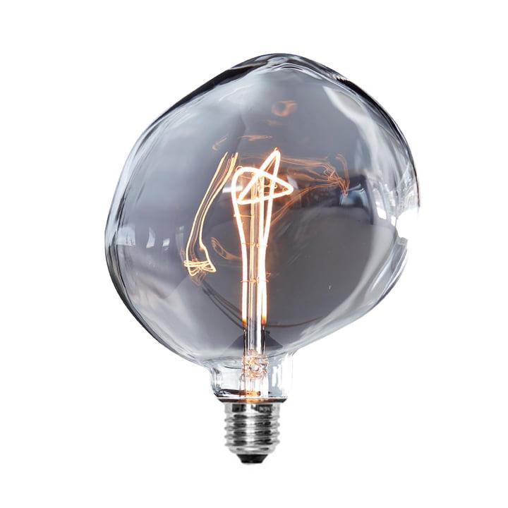 LED-Rock Leuchtmittel Ø 160 mm, E27 / 3 W, dunkelgrau von NUD Collection