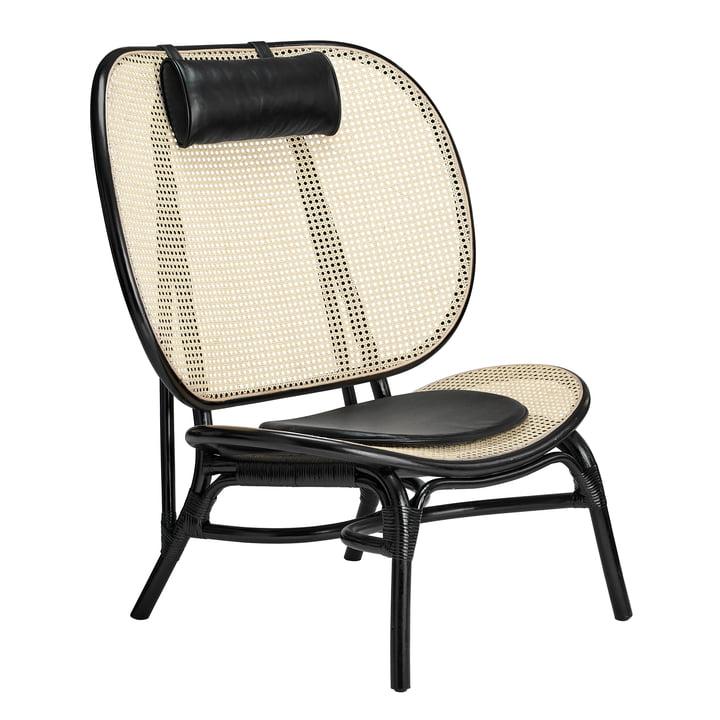 Nomad Lounge Sessel von Norr11 in Natur / schwarz
