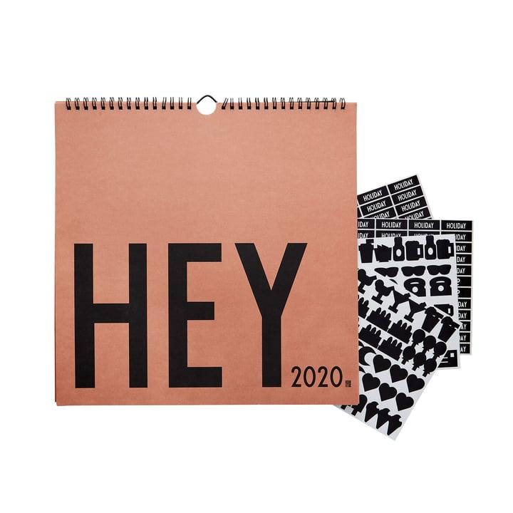 Wandkalender 2020, 30 x 30 cm, nude von Design Letters