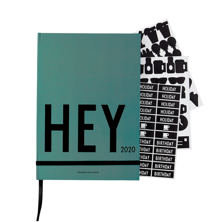 Kalender 2020, A5, grün von Design Letters
