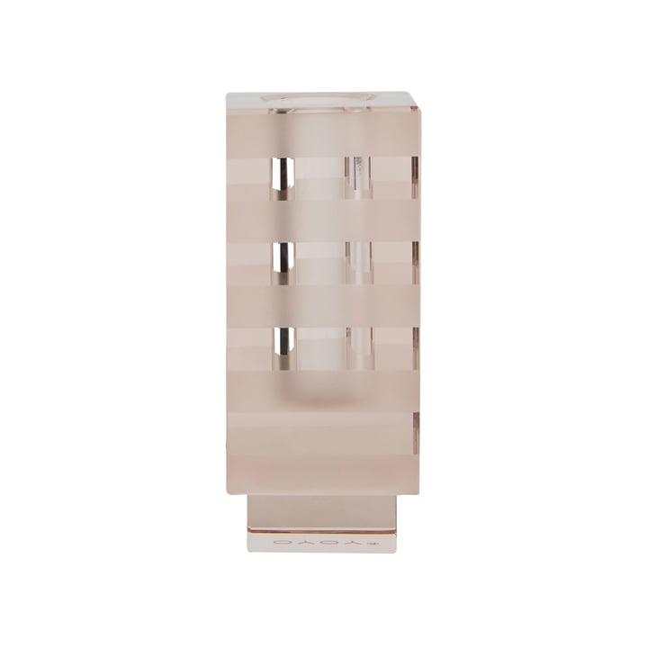 Graphic Vase und Kerzenhalter, quadratisch / hellbraun von OYOY