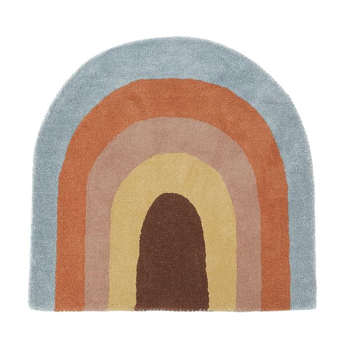Kinderteppich 88 x 90 cm Rainbow von OYOY