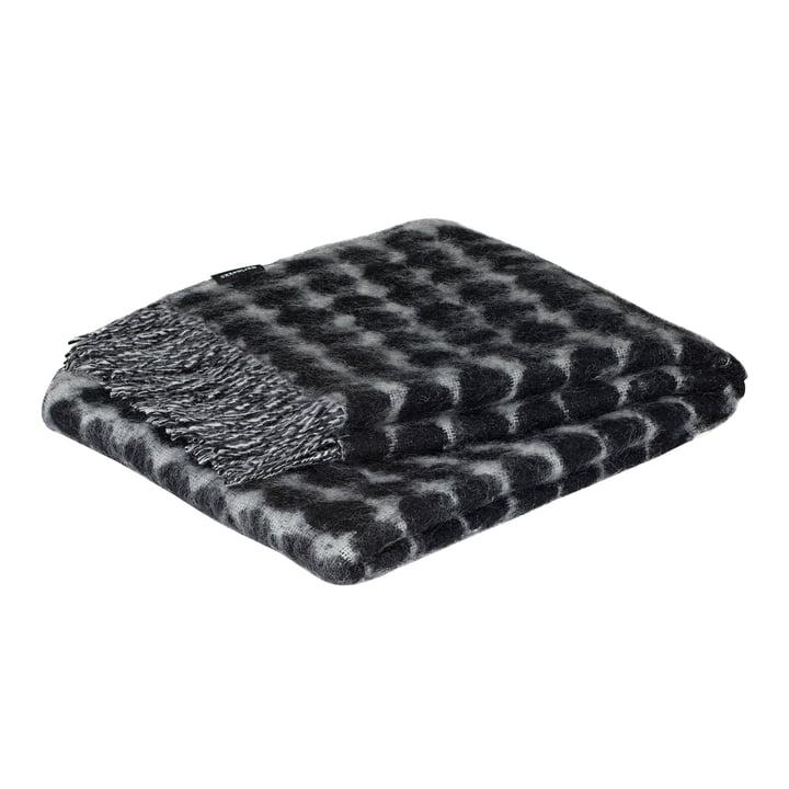 Räsymatto Wolldecke 70 x 180 cm von Marimekko in schwarz / off-white