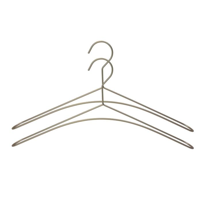 2er-Set Draht-Kleiderbügel in Silber-Grau