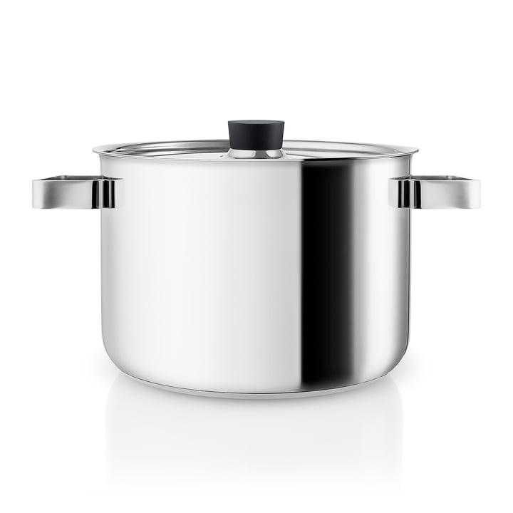 Nordic Kitchen Kochtopf 4 l von Eva Solo in Edelstahl / schwarz